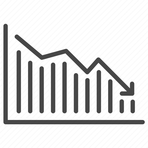 bear market, crisis, down, economic, graph, stock market, trade war icon