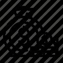 trader, thin, stack, coin, vector, yul958 icon