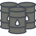 barrel, business, filled, oil, outline