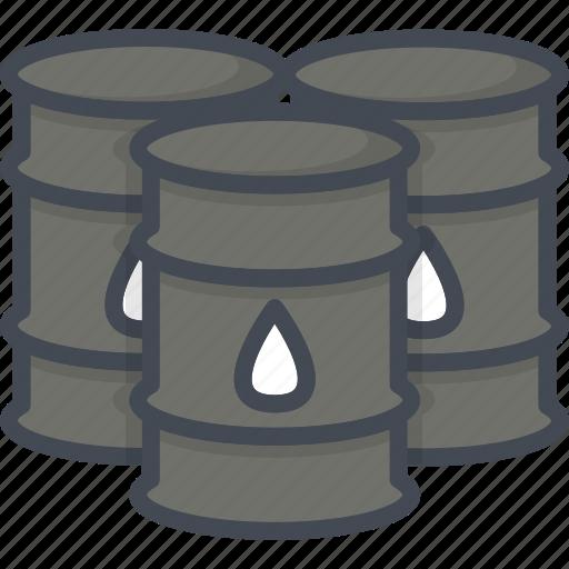barrel, business, filled, oil, outline icon