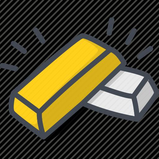 Bar, business, filled, gold, golden, outline, silver icon - Download on Iconfinder