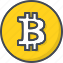 bitcoin, business, cryptocurrency, filled, outline