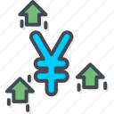 business, currency, filled, outline, yen