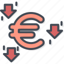 business, currency, euro, filled, outline