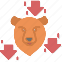 bear, business, forex, trading, trend icon