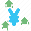business, currency, yen icon