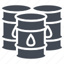barrel, business, oil, solid, trading icon