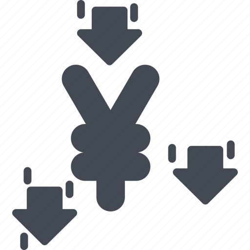 business, currency, solid, yen icon