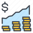 finance, stack, stock, market, growth, trade, chart
