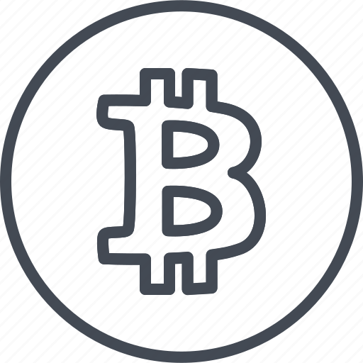 Bitcoin, business, cryptocurrency, line, ouline, trade, trading icon - Download on Iconfinder