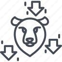 bear, business, forex, line, ouline, trading, trend icon