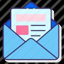 advertising, marketing, newsletter icon