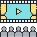 cinema, film, hall, movie, show, theater, theatre icon