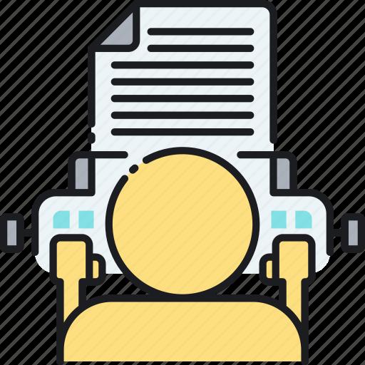 copywriter, copywriting, typewriter, typing, typist, writer, writing icon
