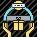award, event, gift, giftbox, present, sponsor, sponsorship icon