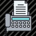 facsimile, fax, fax machine, printer, printing icon