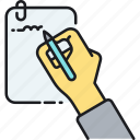 handwriting, handwritten, notepad, notes, signature, writing icon