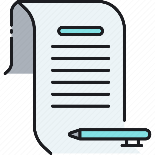 document, letter, message, paper icon
