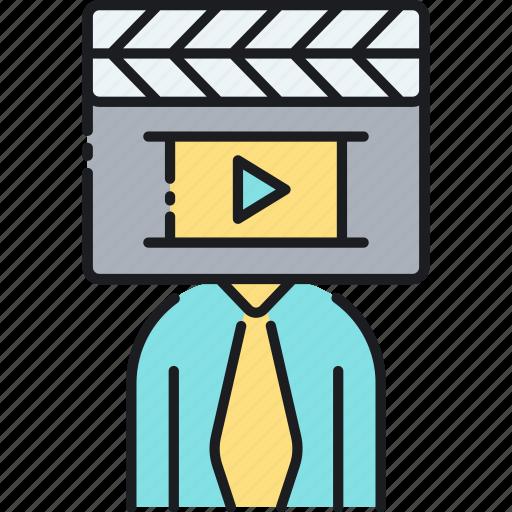 director, media, media director, movie, multimedia icon