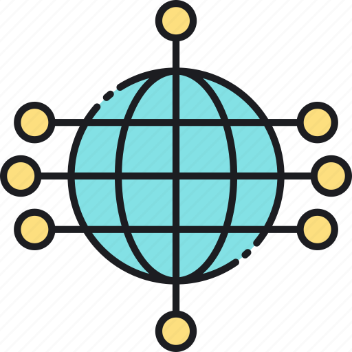 communication, connection, global, network, networking, social icon