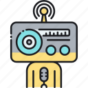 broadcast, communication, radio, radio broadcast, wireless icon