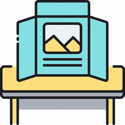 ad, advertisement, print, print ad, tabletop display icon