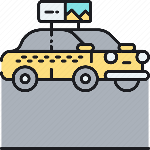 cab, cab ad, cab advertising, taxi, taxi ad, taxi advertising icon