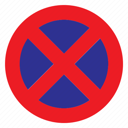 No Parking Sign Signal Stop Stopping Traffic Icon