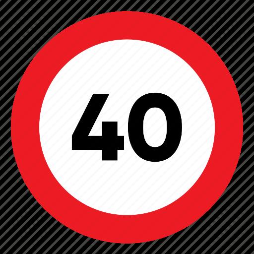 limit, maximum, sign, signal, speed, traffic icon