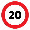 limit, maximum, sign, signal, speed, traffic icon