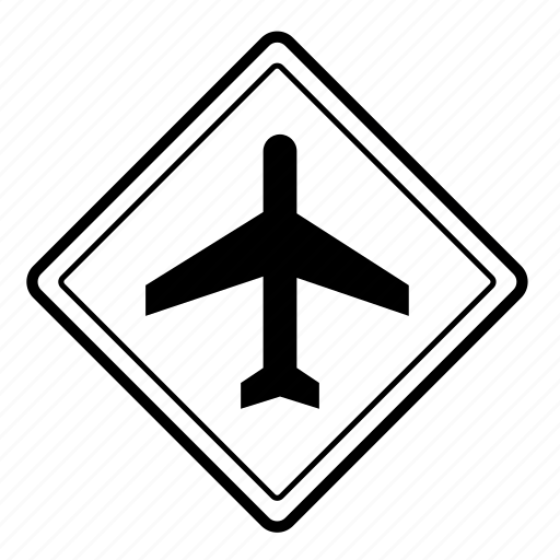 airport, road, roadsigns, traffic icon