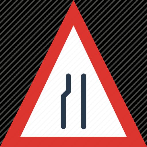 end, lane, left, sign, traffic, transport icon