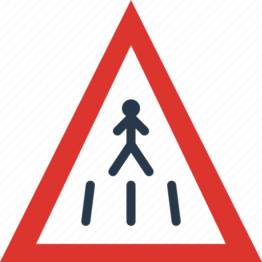 Ahead, crossing, pedestrian, sign, traffic, transport icon - Download on Iconfinder