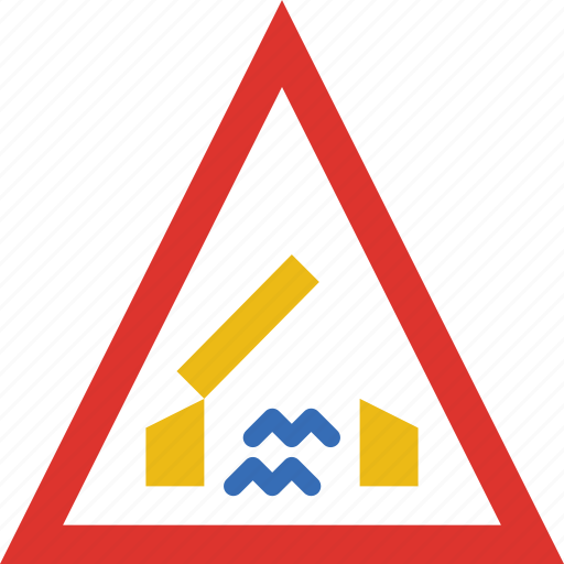Ahead, bridge, sign, traffic, transport icon - Download on Iconfinder