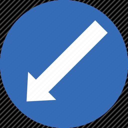 left, sign, traffic, transport, turn icon