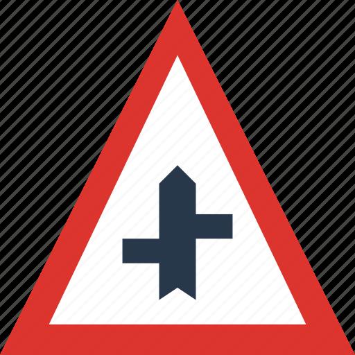 minor, road, side, sign, traffic, transport icon