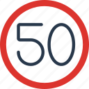 limit, sign, traffic, transport icon