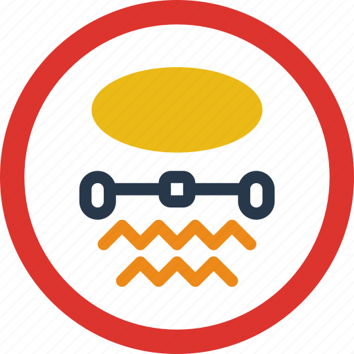 inflamable, materials, sign, traffic, transport icon