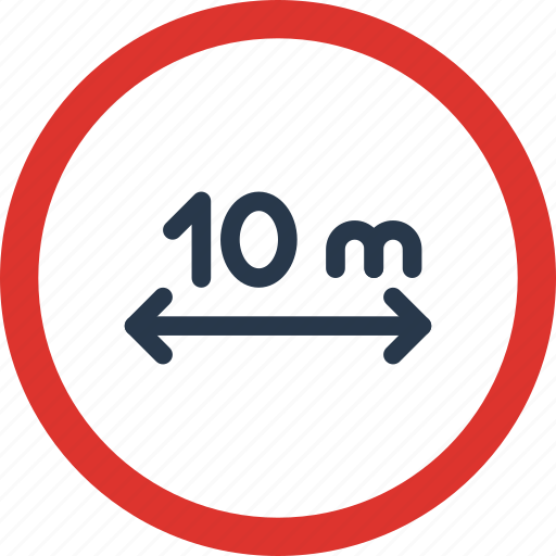Distance, maintain, sign, traffic, transport icon - Download on Iconfinder