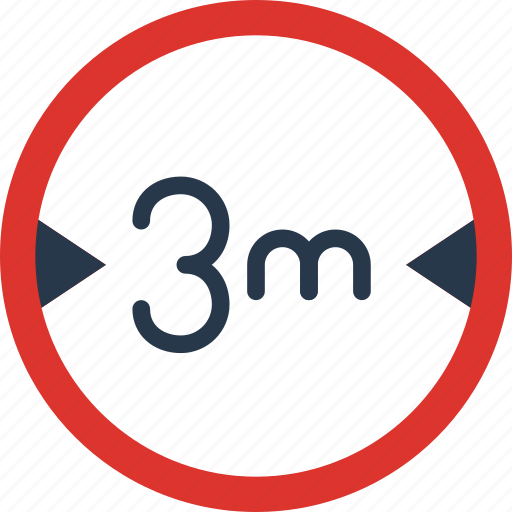 Limit, sign, traffic, transport, width icon - Download on Iconfinder