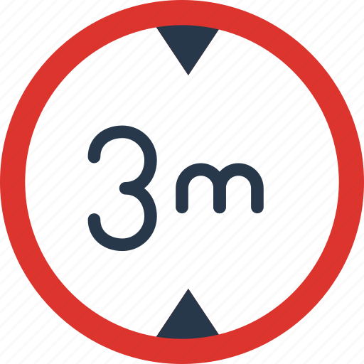 height, limit, sign, traffic, transport icon
