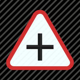 city, cross, crossroads, pedestrian, road, sign, street icon