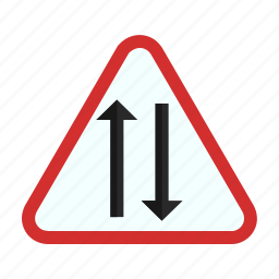 highway, lane, road, transportation, tunnel, two, way icon