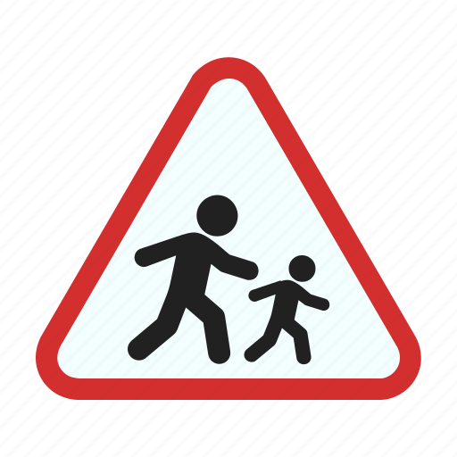 children, crossing, education, road, school, sign, warning icon
