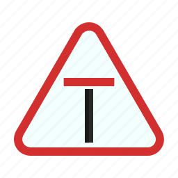 danger, dead, end, road, sign, traffic, way icon