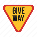 give, red, road, sign, signs, traffic, way