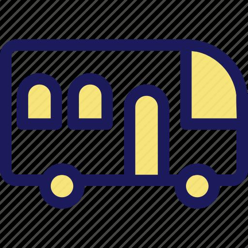 bus, traffic, transportation, vehicle icon
