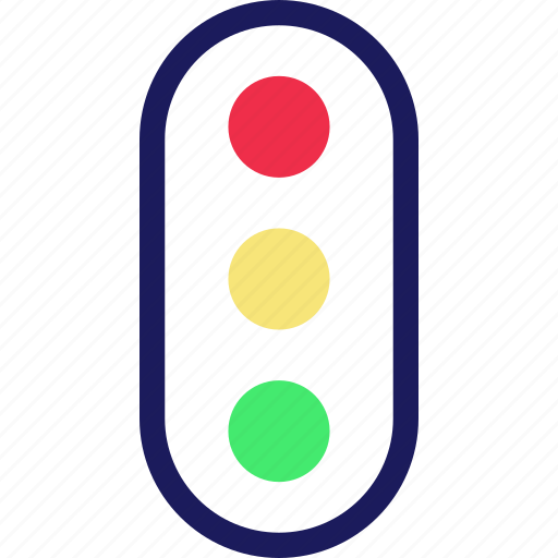 light, traffic, transportation, vehicle icon