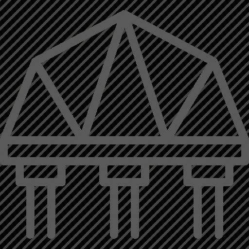architecture, bridge, railways, road, suspension icon