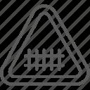 attention, barrier, car, railroad, railways, road, train icon